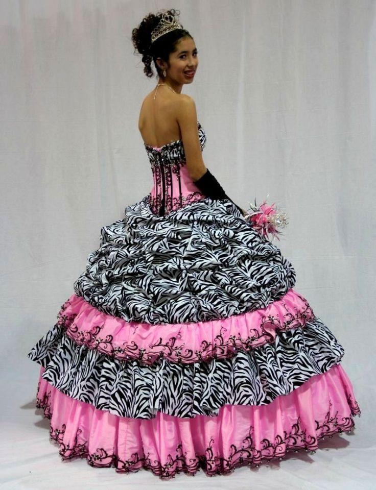 Dyal Zebra Print Wedding Dress