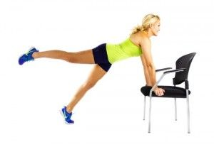 plank twist on chair  knee exercises skinny mom twist
