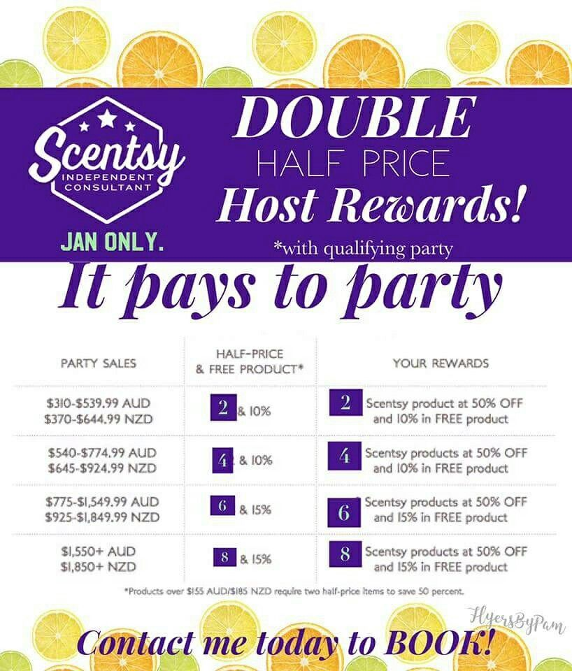 Double Hostess Rewards For January 2017 Book Your Online Fun Scentsy Party Today Sniffywhiffy2015 Gmail Com Scentsy Scentsy Party Hostess Rewards