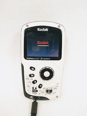 kodak playsport zx3 waterproof digital camera camcorder white grey rh pinterest com