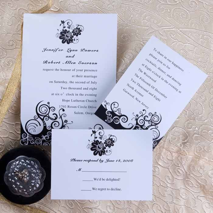 Black flower wedding card wedding ideas for nikki pinterest use handmade cards the marriage invitation wordings to invite friends should be such that it should give the guests a vague idea as to what to look forward stopboris Images