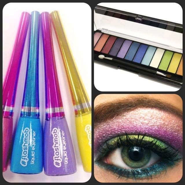 eyeliner #eyesahdow #color #neon #fluor #maquillaje Eyeliner