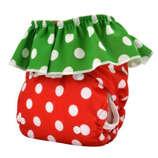 Amazon.com : Alva Baby Strawberry Pocket Reuseable Washable Cloth Diaper Nappy + 2 Inserts HL01 : Baby