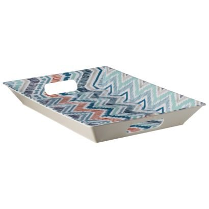 A Lovely Graphic Tray Melamine Serving Tray From Target