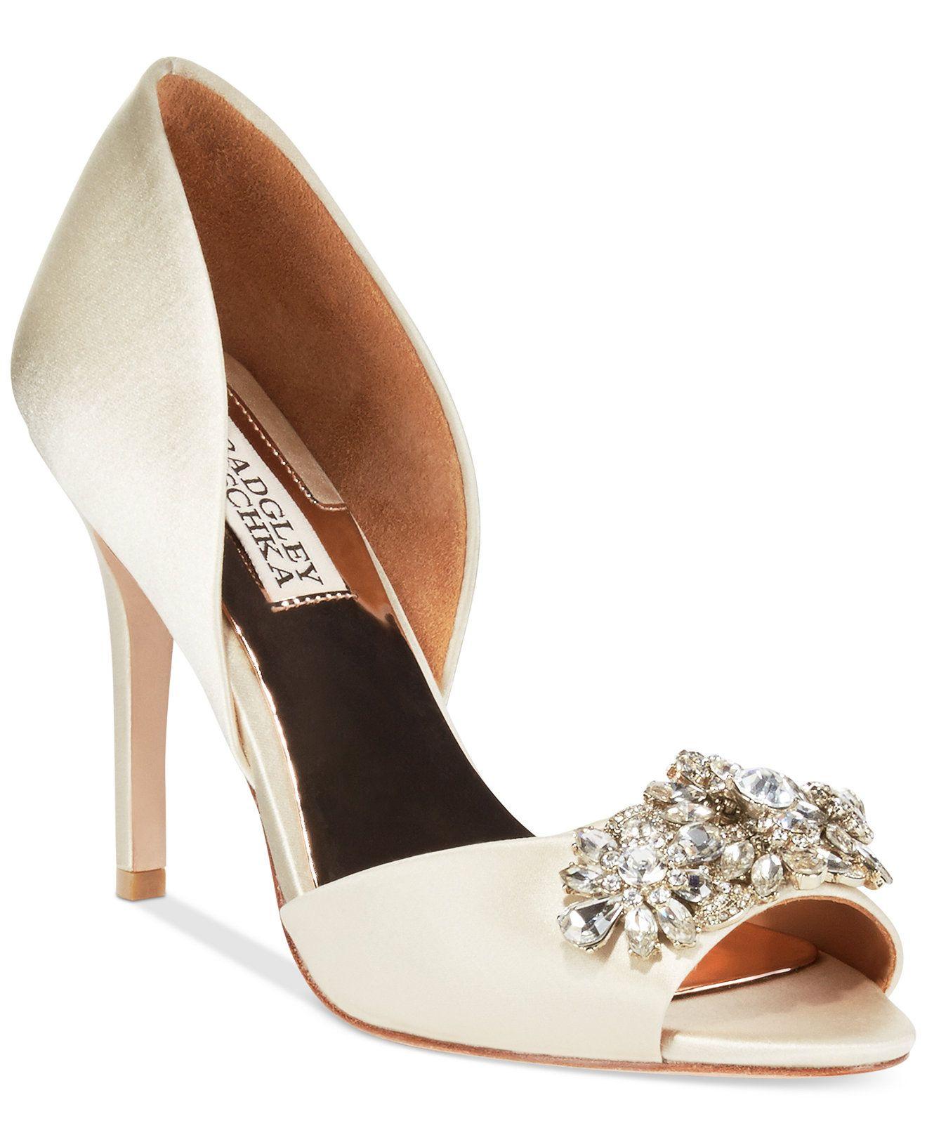 Badgley Mischka Giana Evening Pumps Pumps Shoes Macy S Women Shoes Bridal Shoes Wedding Shoes