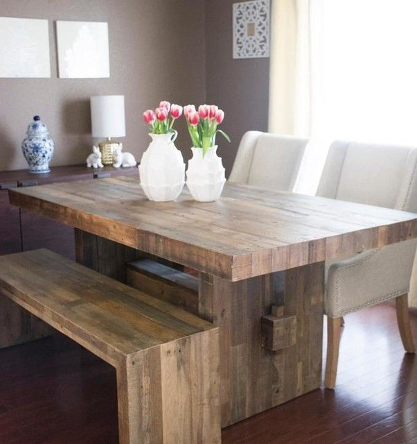 Emmerson 174 Reclaimed Wood Dining Table Reclaimed Pine In 2020