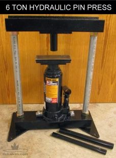 Hydraulic Pin Press Homemade Hydraulic Pin Press Powered By A 6 Ton Bottle Jack Fabricated From C Chann Hydraulic Metal Bending Tools Metal Working Projects