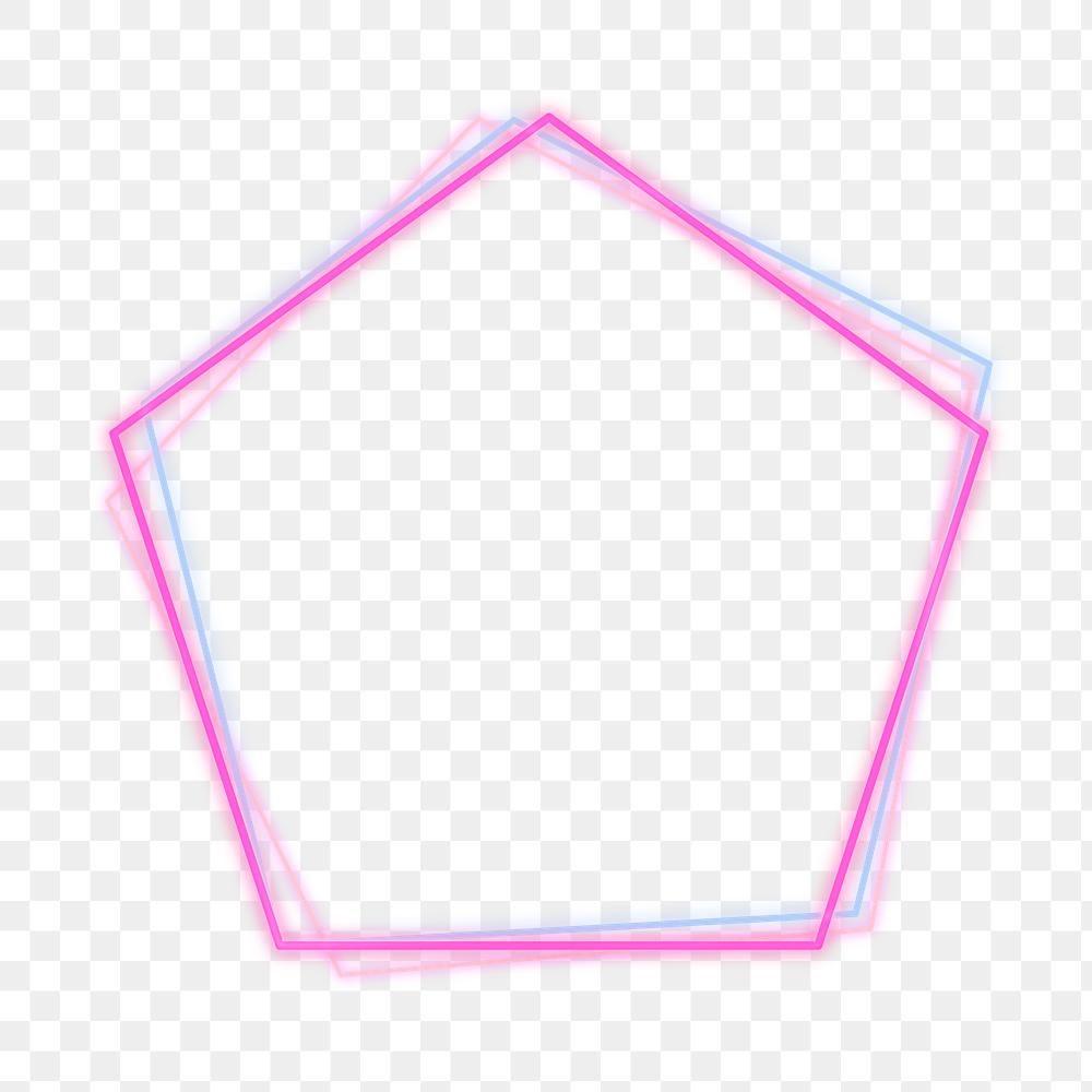 Pink And Blue Pentagon Neon Frame Design Element Free Image By Rawpixel Com Aum Frame Design Design Element Neon