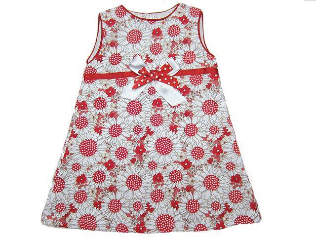 9ea33aa26 Vestido niña en pique con estampado de flores en blanco, beige y ...