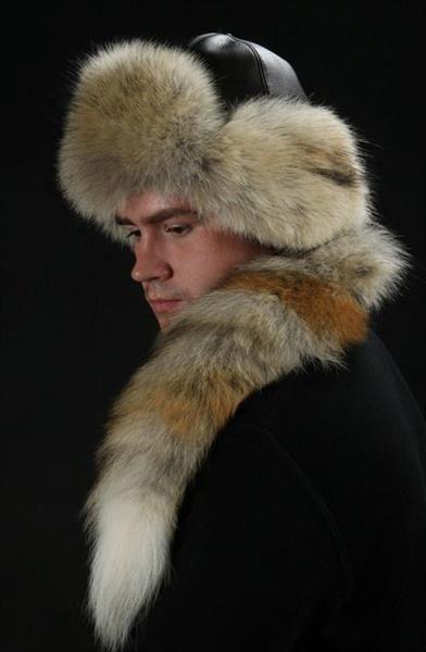 Шапка меховая с хвостом | Men fur hat, Mens fur