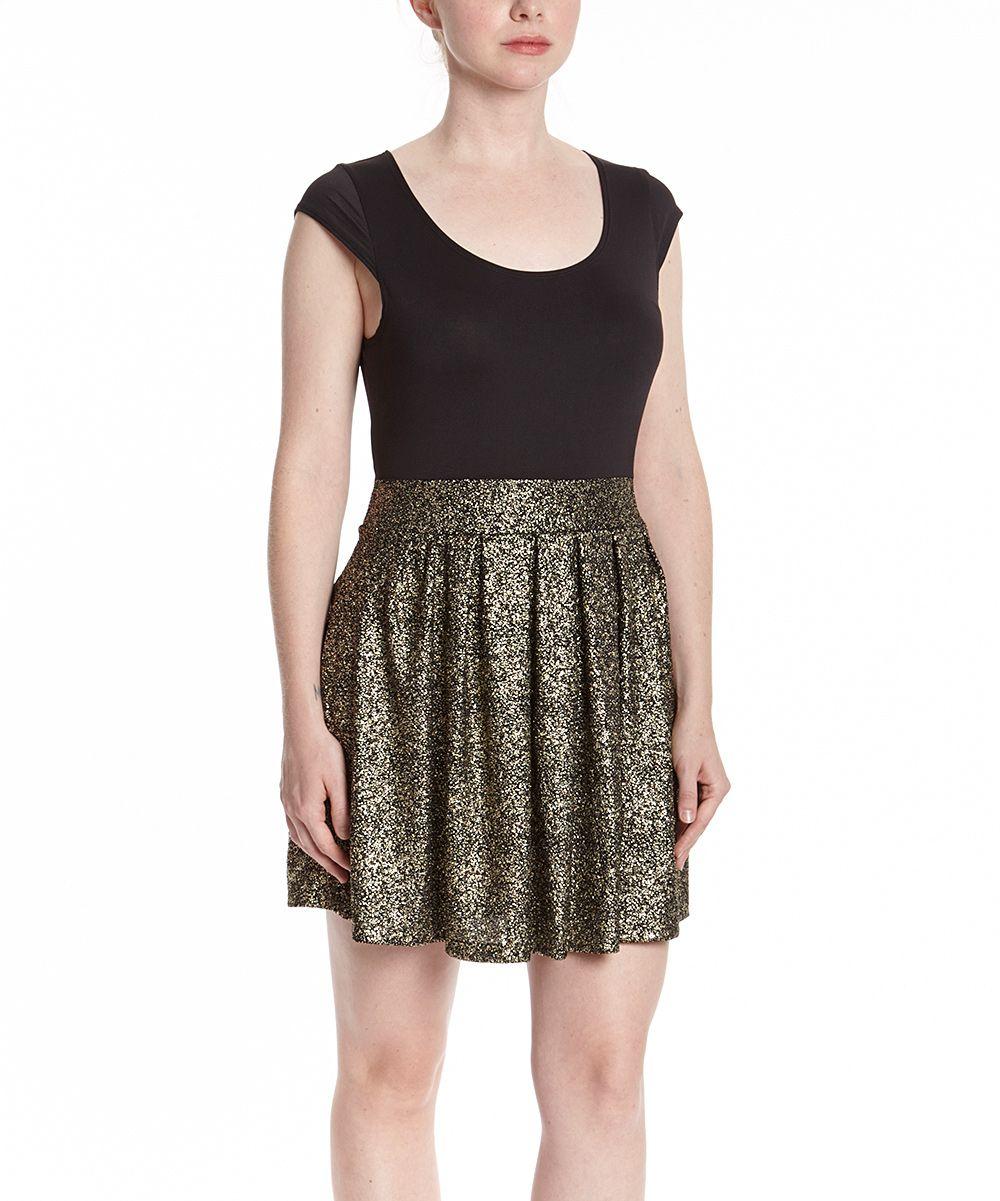 Black u gold sparkle skater dress sparkle black gold and dresses
