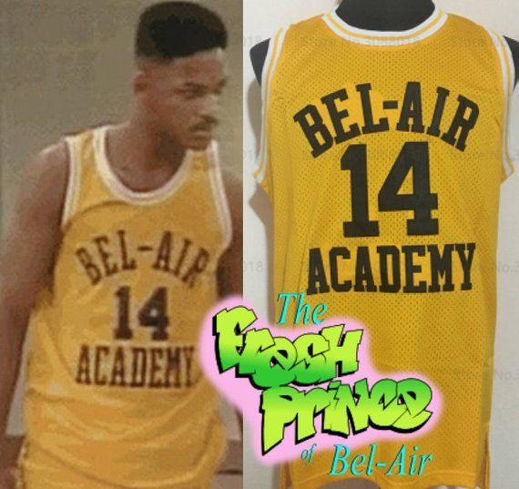 50711e906805 Will Smith Bel-Air Jersey Fresh Prince of Bel-Air Academy 90s TV Show Jersey  Banks Martin Bad Boys H