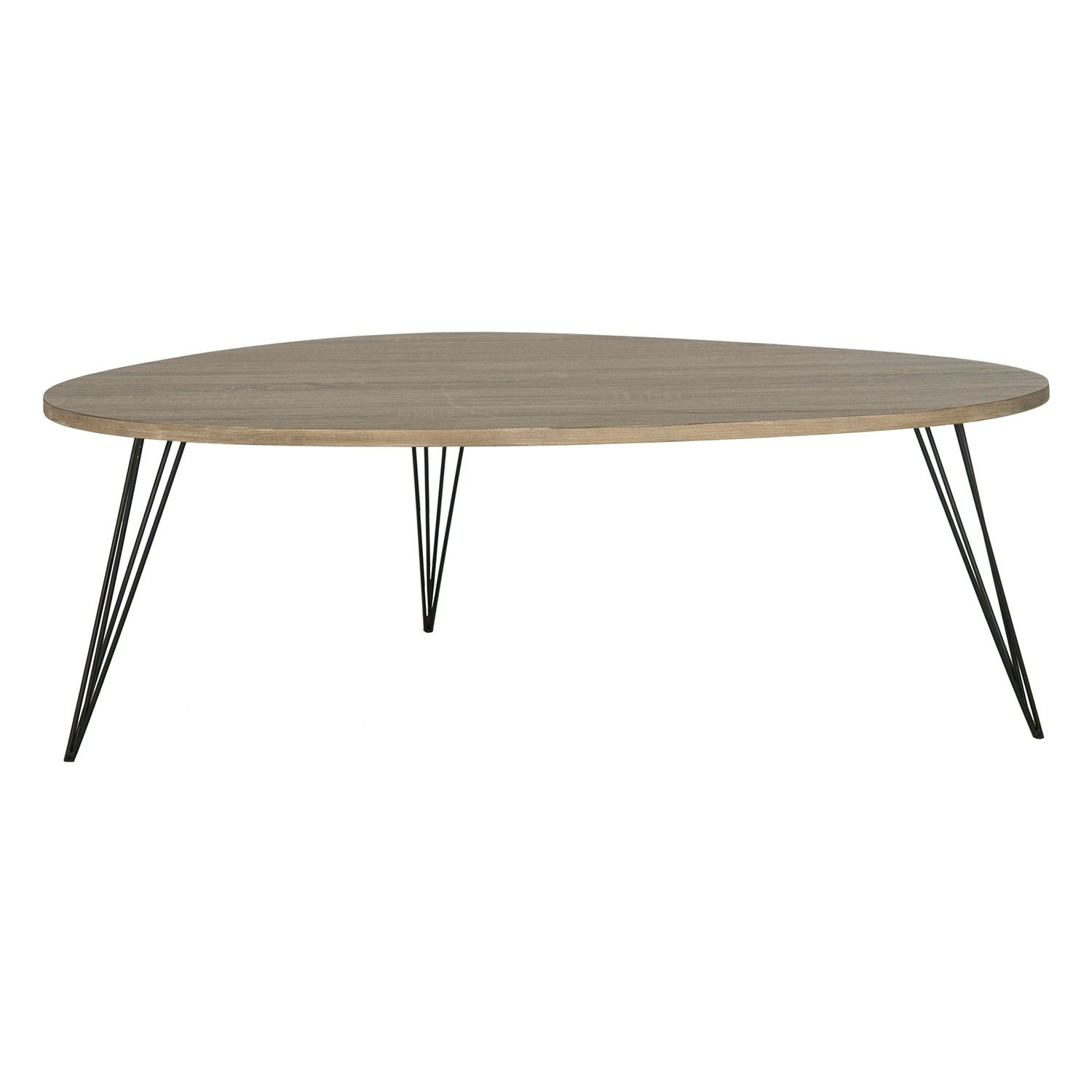 Safavieh Wynton Black Oak Coffee Table