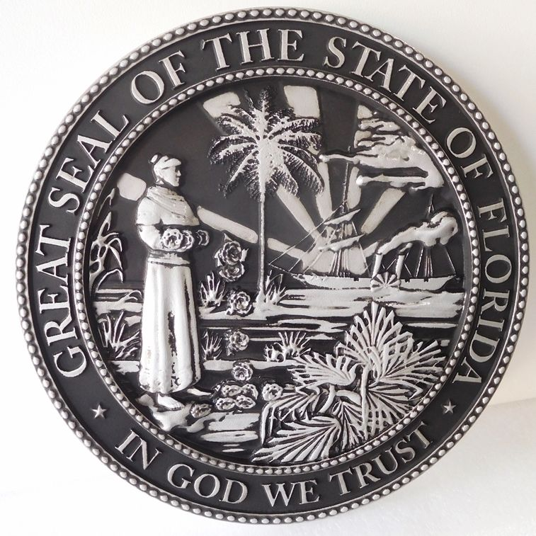 CC7070 Great Seal of the State of Florida, Handrubbed