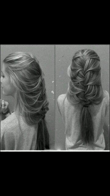 Cute messy braid