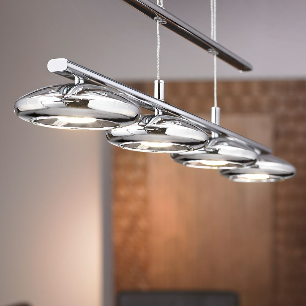 Led Pendant Lights Kitchen Eglo Eglo Tarugo Led Adjustable 4 Spot Bar Pendant Light
