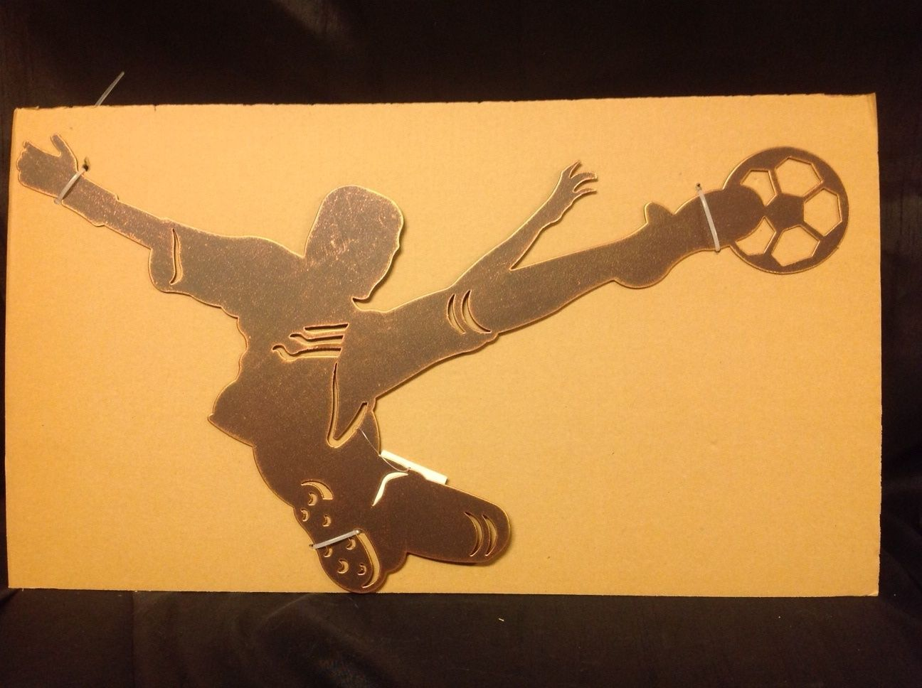 Soccer Silhouette Metal Wall Art 23\