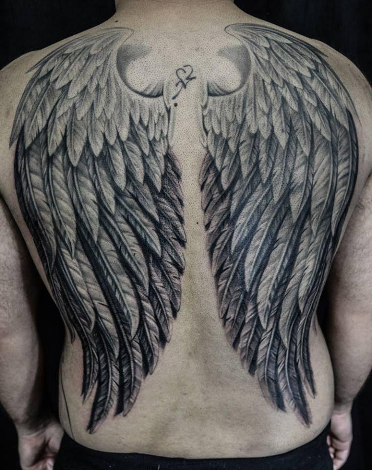 Chronic Ink Tattoo Toronto Tattoo Full back wings
