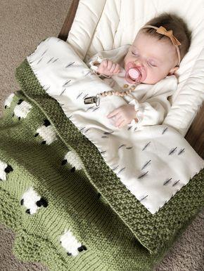 Photo of Projektdateien: Mit Stoff hinterlegtes Strickschaf-Babydecke – Knitting trends |…