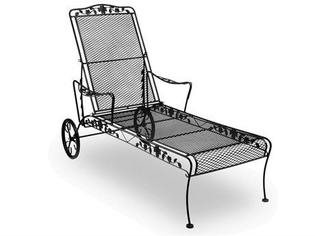 Meadowcraft Dogwood Wrought Iron Chaise Lounge Pool Chaise