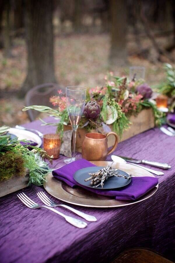 Image result for pantone purple table cloth