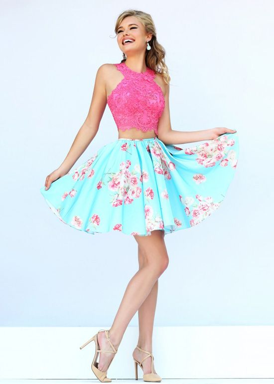 Two Piece Prom Dresses | Dressed Up Girl | Style | Pinterest ...