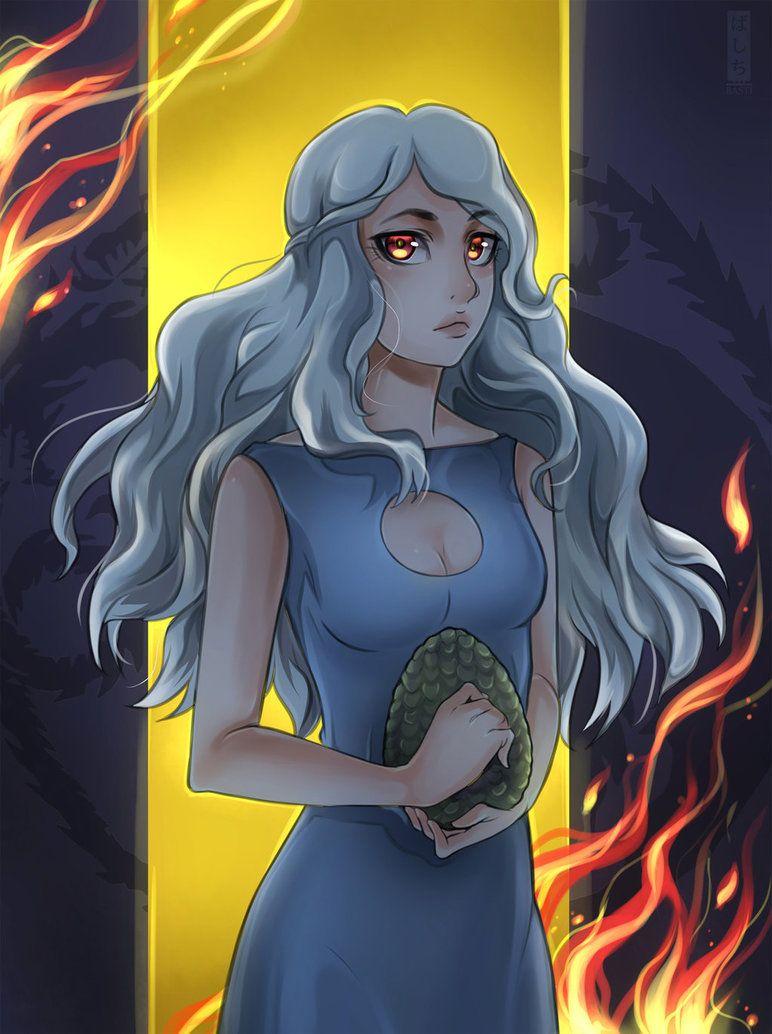 Postcard Mother of dragons.Game of Thrones Daenerys Targaryen Postcard for postcrossing.