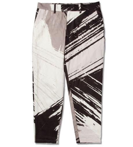 Robert Geller Black Brush Stroke Print Pant