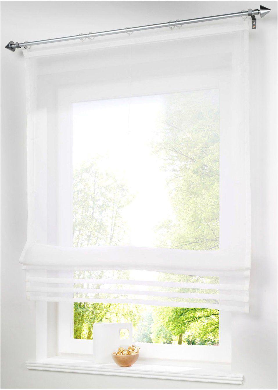 Eine hauchzarte Idee für Ihr Fenster Das luftig leichte Raffrollo