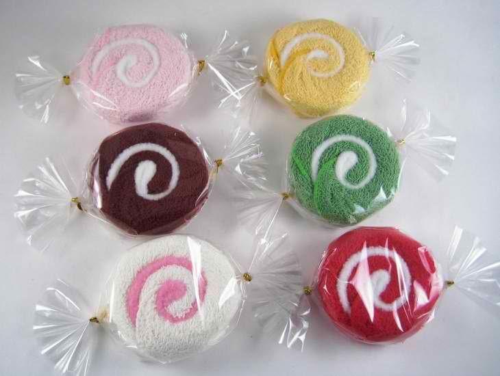 Lollipop Candy Towel Washcloth Wedding Favor Baby Shower Gift Dessert Wrap w//