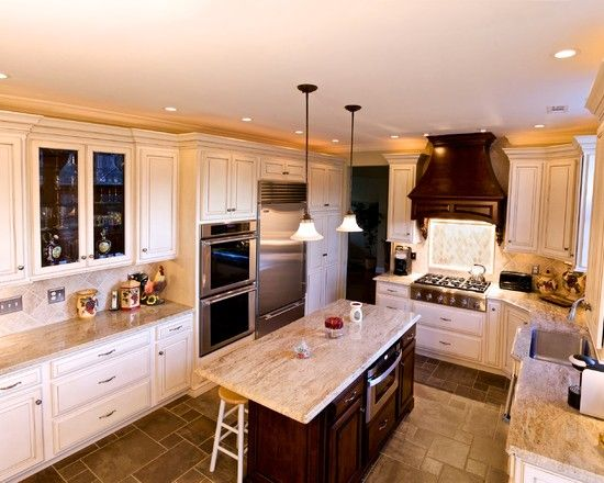Inspiring Traditional Kitchen Design With Kashmir Gold Granite