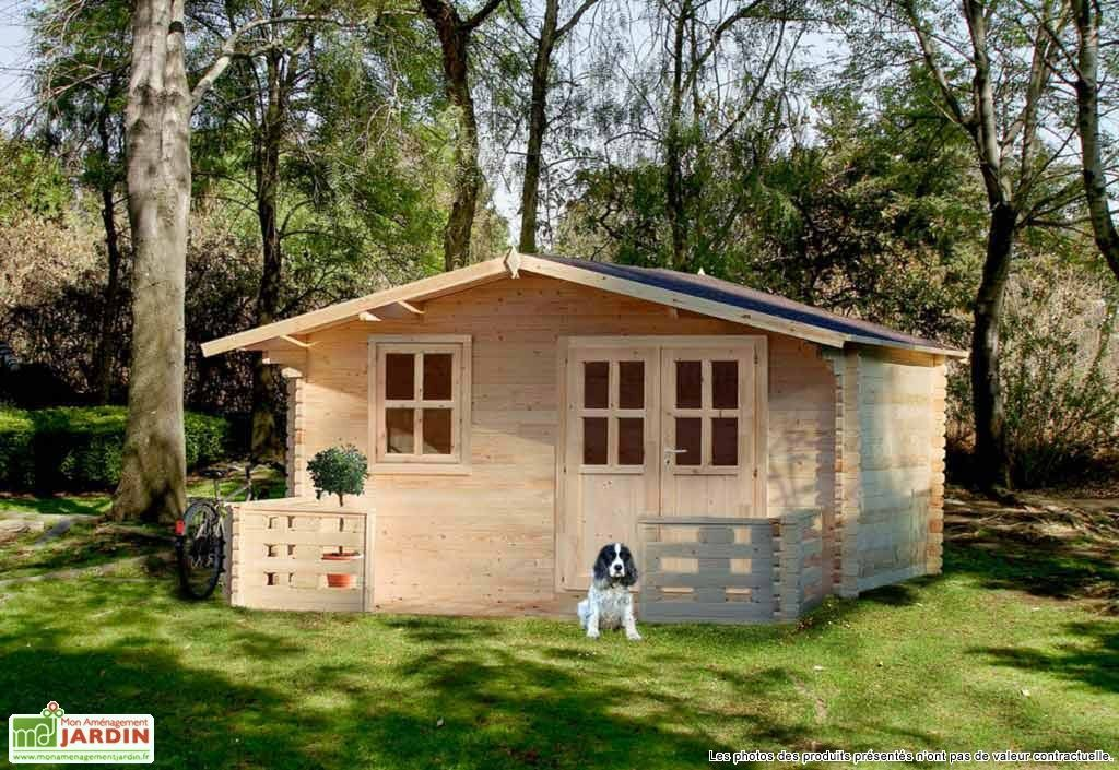 Bungalow Chalet Bois Tournesol 399x549x250 34 Mm Traite En Option