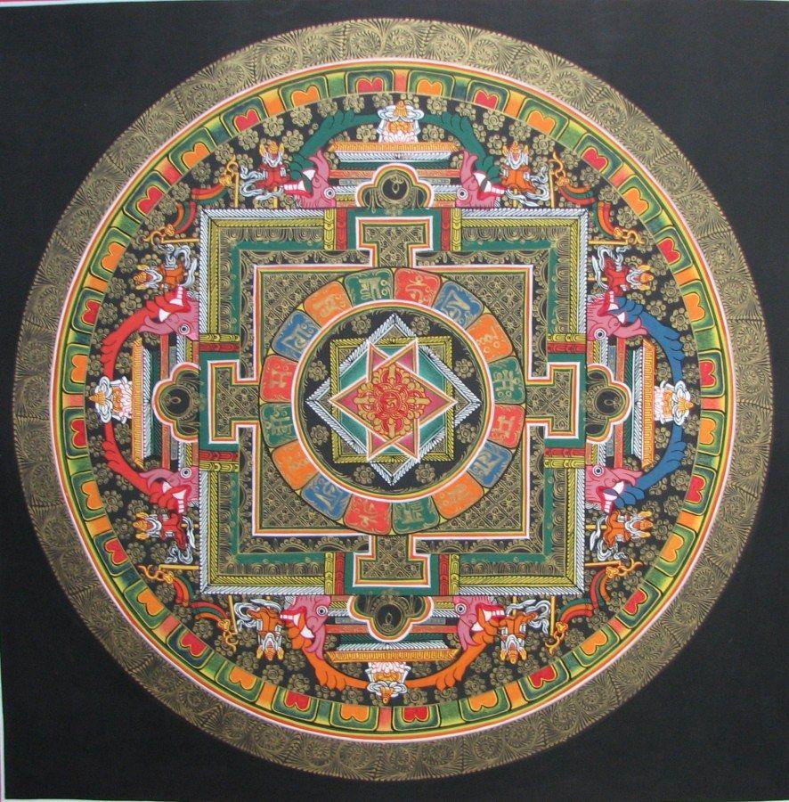 Мандалы тибетские картинки, школа ретро