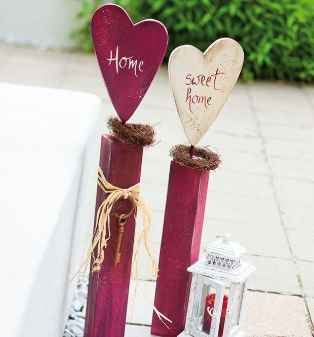 Holzpfosten Deko holzpfosten dekorativ verziert bryllup holzpfosten