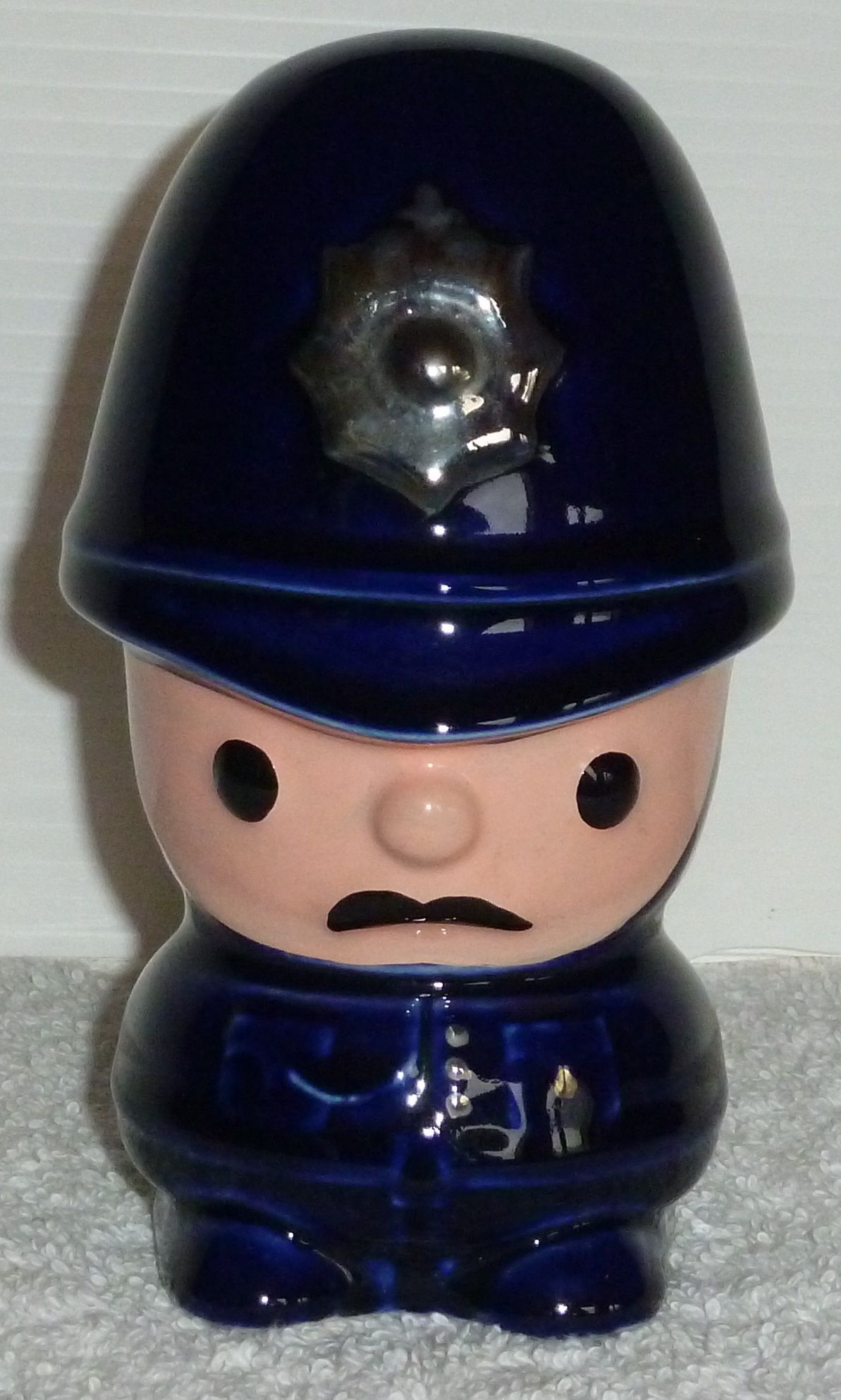 Now Sold - Hugh Taylor collectable 1985 issued dark blue ceramic British policeman Money Box