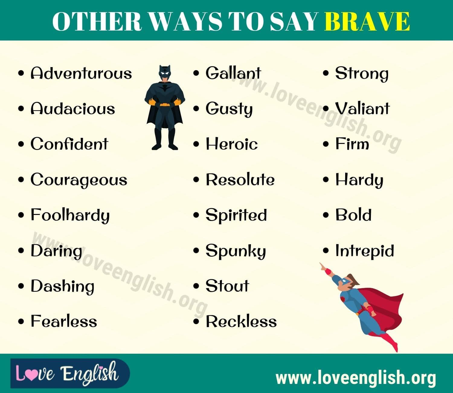 Brave Synonym 22 Different Synonyms For Brave In English Love English Essay Writing Skills Words That Describe Feelings Learn English Words