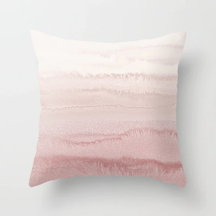 Nordic Decor Cushion Covers Pink Geometric Tropic Pineapple Marble Pillow Cover 45x45cm Polyester Cushion Case Sofa Bed Decorative Pillow Blush Throw Pillow Bed Pillows Decorative
