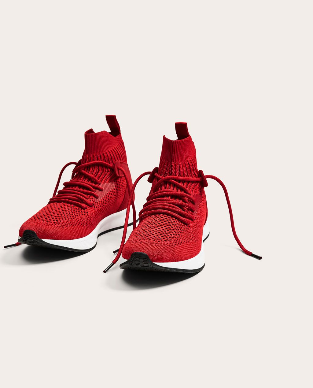 timeless design 99c80 c274c CONTRASTING RED HIGH TOP SNEAKERS-NEW IN-MAN   ZARA United States