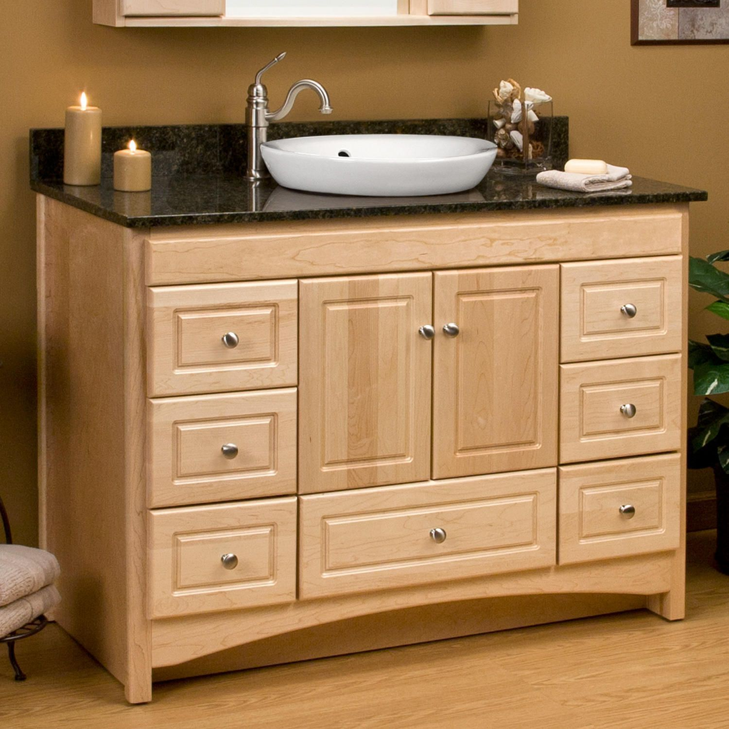 48 Treemont Vanity Natural Maple Cabinet Only Maple