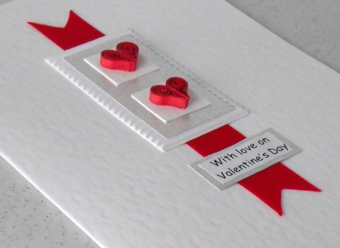 Handmade quilled hearts valentine card beautiful quilling via etsy also cij sale off rh pinterest