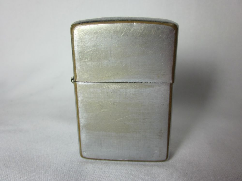 Zippo Lighter 1965 Brushed Chrome Vintage 2517191 Zippo Zippo Lighter Zippo Chrome