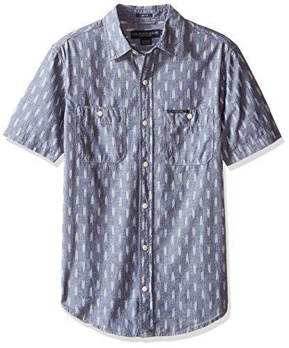 U.S POLO ASSN Mens Short Sleeve Slim Fit Fancy Shirt Button Down Shirt