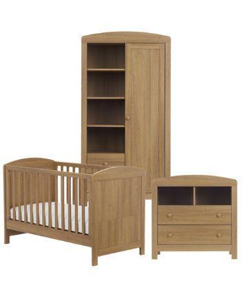 Mothercare Padstow 3-piece Nursery Furniture Bundle in Oak. #Nursery ...