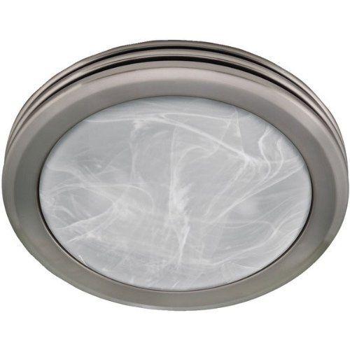Hunter 90053 Decorative Brushed Nickel Bathroom Fan By Hunter Fan