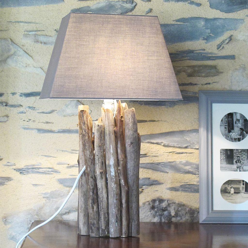 fabriquer une lampe en bois flott profitez de balades en bord de mer ou de rivi re pour. Black Bedroom Furniture Sets. Home Design Ideas