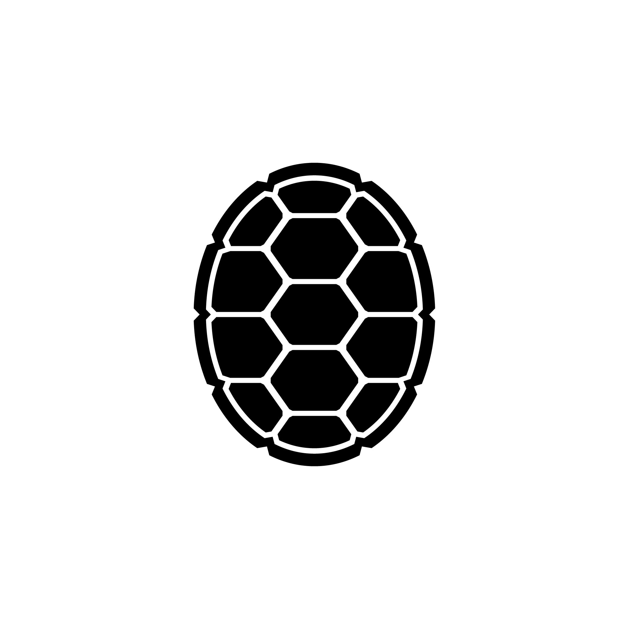 Slider Turtle Red Outline Clipart | Ninja turtle shells ...