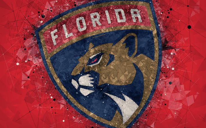 Download Wallpapers Florida Panthers 4k American Hockey Club Creative Art Logo Emblem Nhl Geometric Art Red Abstract Background Hockey Sunrise Florid Florida Panthers American Hockey Geometric Art