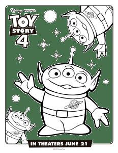 Marcianitos Toy Story 4 Dibujos Para Imprimir Y Pintar