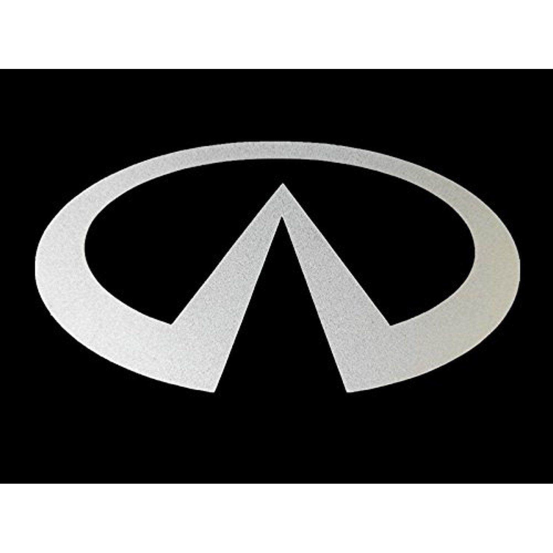 Fixture displays infiniti car logo for front hood and