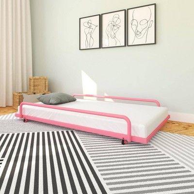 Nyla Trundle For Daybed Round Tube Pink Room Joy Bed Frame Headboard Upholstered Bed Frame Pink Room